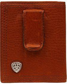 Ariat Logo Concho Clip Bi-fold Wallet