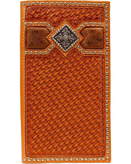 Ariat Basketweave Fancy Concho Rodeo Wallet
