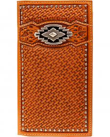 Ariat Basketweave Aztec Concho Rodeo Wallet