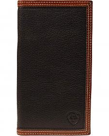 Ariat Black & Tan Rodeo Wallet