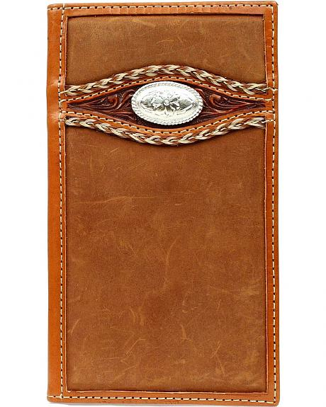 Ariat Fancy Concho & Tooled Overlay Rodeo Wallet