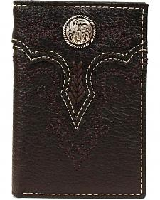 Ariat Fancy Concho Tri-fold Wallet