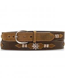Leather Overlay Spur Rowel Concho Belt