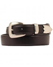 Double Barrel Three Piece Buckle Set Basic Leather Belt