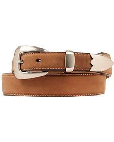 Double Barrel Three Piece Buckle Set Basic Leather Belt