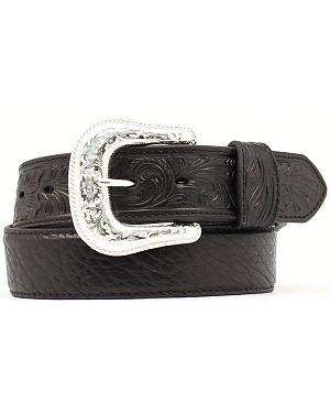 Bullhide & Tooled Leather Belt
