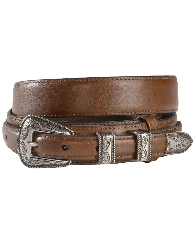 m f western s leather billet overlay ranger belt