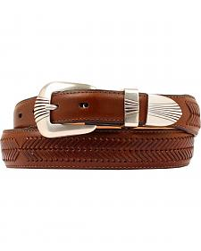 Double Barrel Leather Arrow Laced Belt