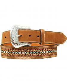Nocona Colorful Embroidered Leather Belt