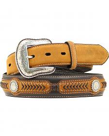 Leather Laced Concho Belt