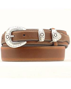 Leather Overlay Ranger Belt