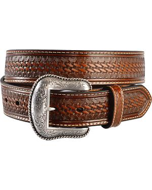 Nocona Basketweave Leather Belt