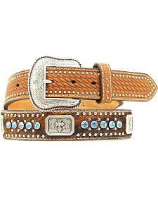 Nocona Rectangle Concho & Rhinestone Belt