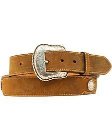 Nocona Concho Overlay Leather Belt