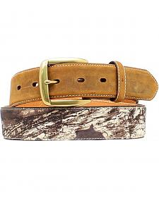 Nocona Mossy Oak Camo Billet Belt