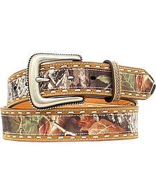 Nocona Mossy Oak Leather Laced Belt