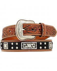 Nocona Hair-on-Hide Fancy Concho & Rhinestone Belt