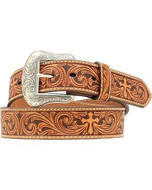 Nocona Cross Tooled Western Belt