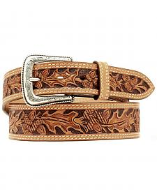 Nocona Leaf Tooled Belt