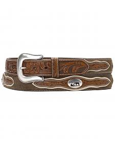 Nocona Cowboy Prayer Concho Tooled Billets Belt