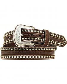 Nocona Tooled & Studded Overlay Belt