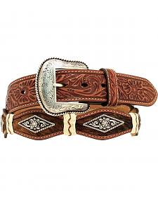 Nocona Scalloped Hair-on-Hide Concho Belt