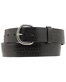 Nocona Basket Stamped Leather Belt - XL