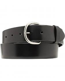 Nocona Basic Black Leather Belt