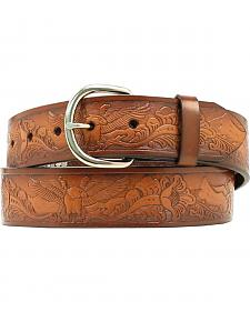 Nocona Eagle Floral Tooled Belt