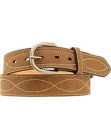 Nocona Cross Stitched Leather Belt