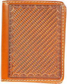 Nocona Basketweave Embossed Bi-fold Wallet