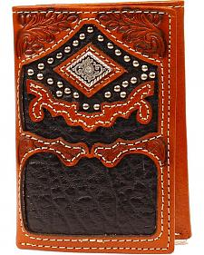 Nocona Diam Concho Tri-fold Wallet