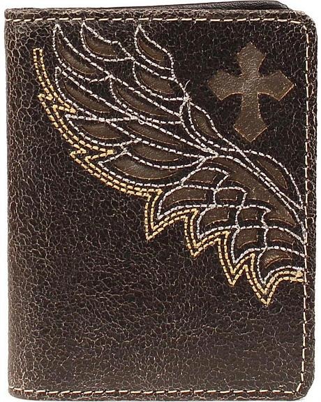 Nocona Embroidered Wing Cutout Bi-Fold Wallet