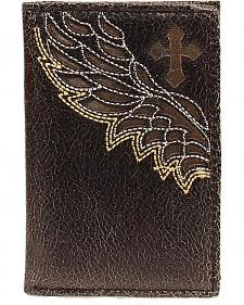 Nocona Cross & Wing Inlay Tri-fold Wallet