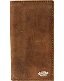 Nocona Logo Concho Checkbook Wallet
