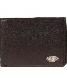 Nocona Logo Concho Leather Wallet