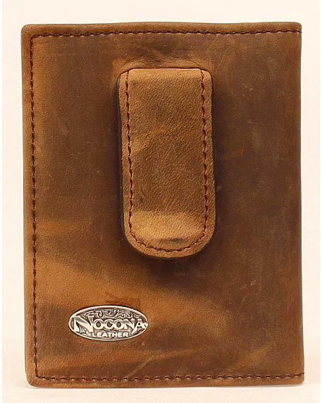 Nocona Logo Concho Money Clip Wallet