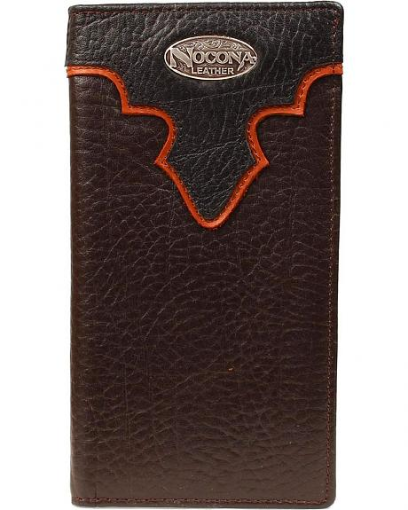 Nocona Layered Leather Overlay w/ Logo Concho Rodeo Wallet