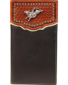 Nocona Basketweave Bull Rider Concho Rodeo Wallet