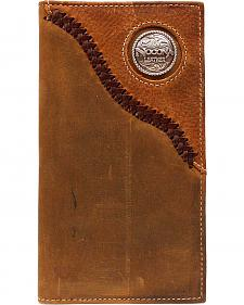 Nocona Leather Laced Logo Concho Rodeo Wallet