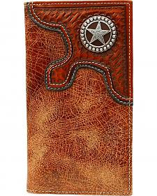 Nocona Basketweave Overlay w/ Star Concho Rodeo Wallet