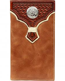 Nocona Basketweave w/ Concho Overlay Rodeo Wallet