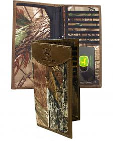 John Deere Realtree Camo Checkbook Wallet