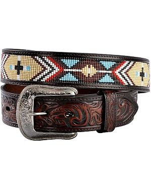 3D Aztec Beaded Western Belt
