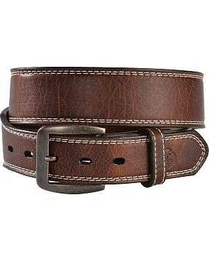 Georgia Boot Tapered Tan Leather Belt