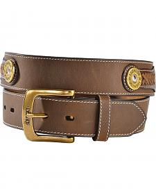 Rocky Camo Print Inlay & Shotgun Shell Concho Leather Belt