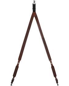 3D Basketweave Star Concho Suspenders - XL
