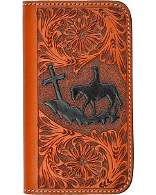 3D Samsung Galaxy Tooled Leather Praying Cowboy Phone Cover
