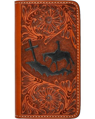 3D Tooled Leather Praying Cowboy iPhone 5/5s Cover Western & Country PH031