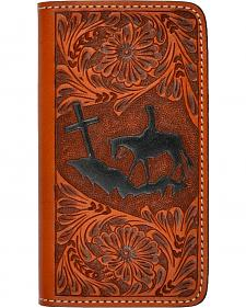 3D Tooled Leather Praying Cowboy iPhone 5/5s Cover
